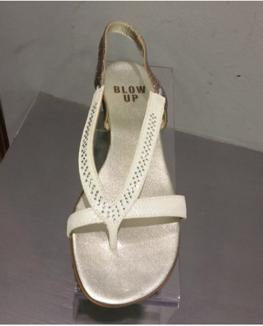 BLOW UP Sandales nu pieds Lou Strass couleur blanches