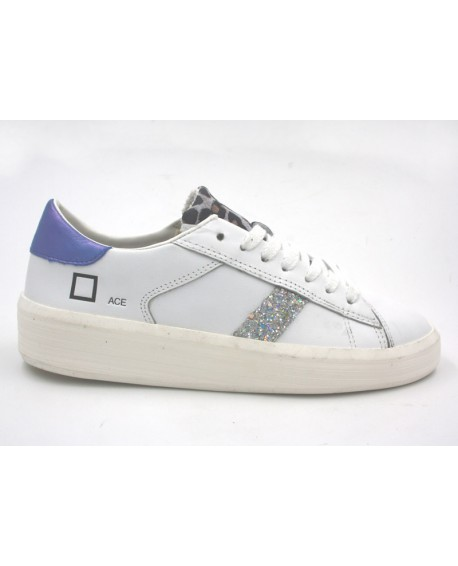 Sneakers marque DATE modèle Ice Animal cuir blanc