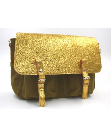 Sac à main Craie modele Mini Math mousse gold