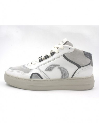 Sneakers montantes Crime London modèle 25131 blanc