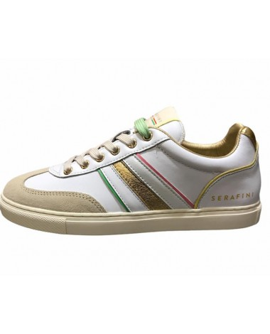 Sneakers Serafini en cuir blanc modele Court color nouvelle collection