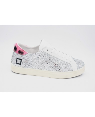 Baskets DATE modèle Hill Low Pong Glitter Silver