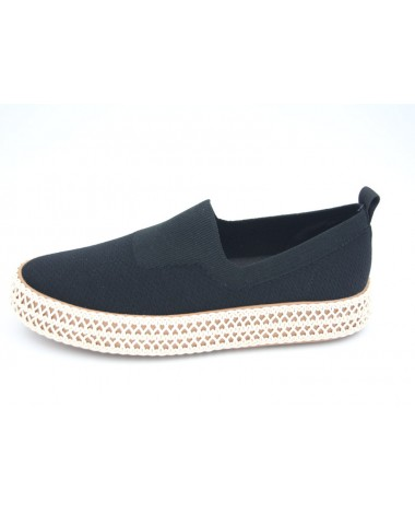 Chaussures derby noires marque WHAT FOR modele WF132