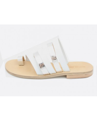 Sandales nu pieds blanches MORENA GABBRIELLI modele 72