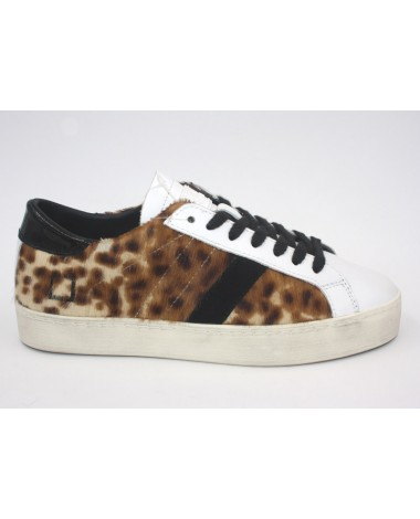 Baskets cuir imprimé leopard DATE hill low pony