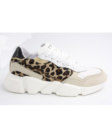 Baskets running marque Serafini modèle Connors leopard