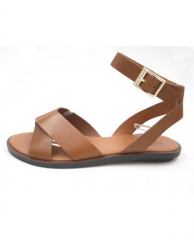 Sandales What For modèle Zack cuir camel