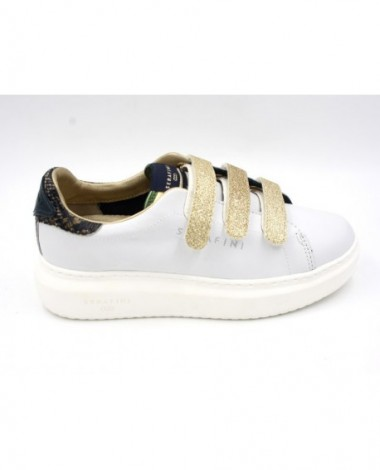 Baskets sneakers Serafini modèle Connors scratch paillettes